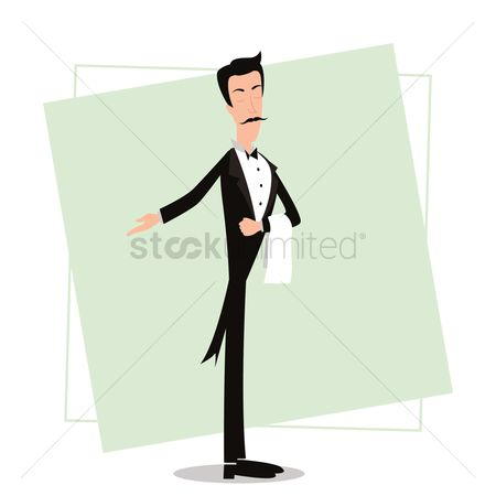Cloth : Waiter with welcome gesture