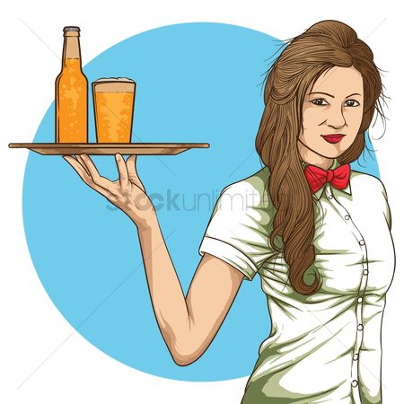 Servings : Waitress with drinks