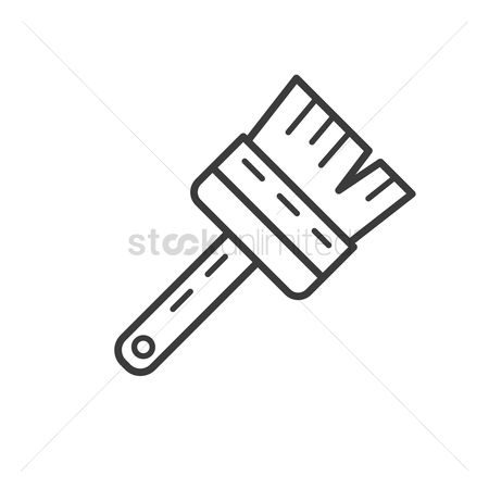 Handy : Wall brush icon