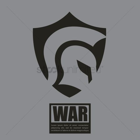 Combats : War concept with shield