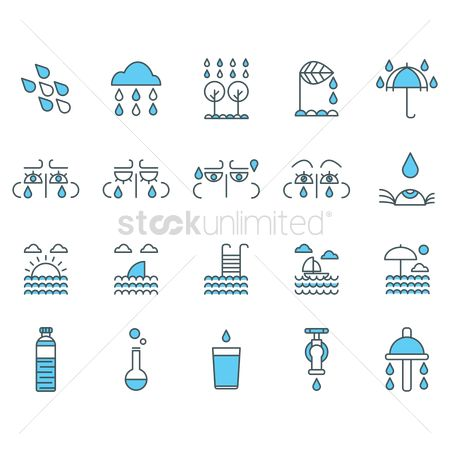 Faucets : Water related icons set