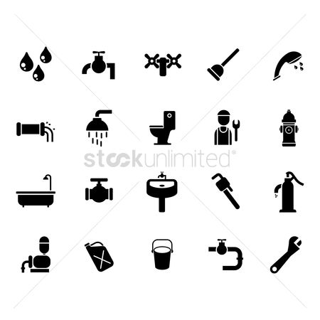 Spanner : Water related icons set