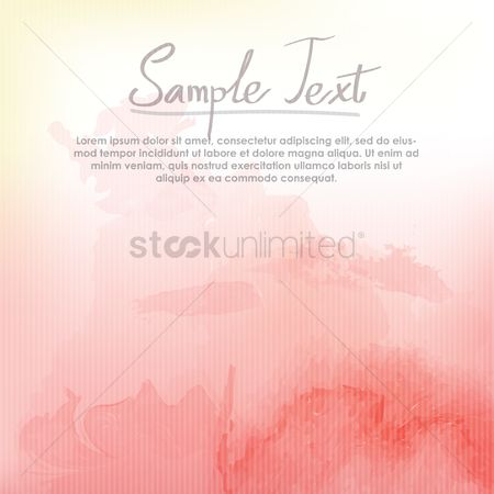 Sample text : Watercolor background design