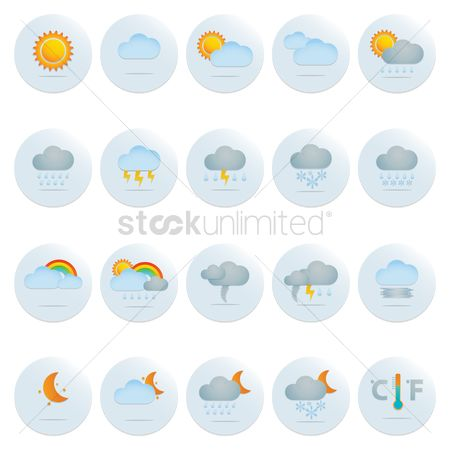 Days : Weather icon set