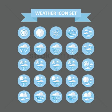 Moon : Weather icons set