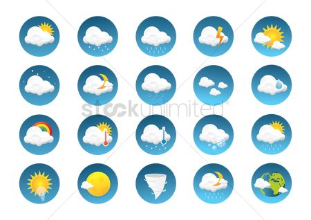 Moon : Weather type icon set