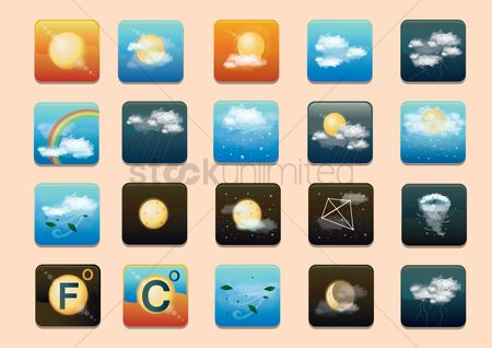 Warm : Weather type icon sets