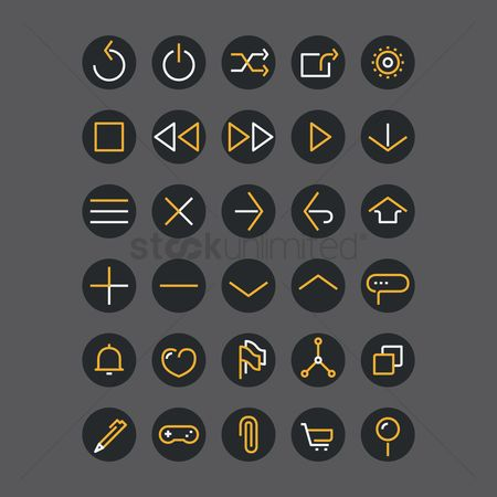 Power button : Web interface icons