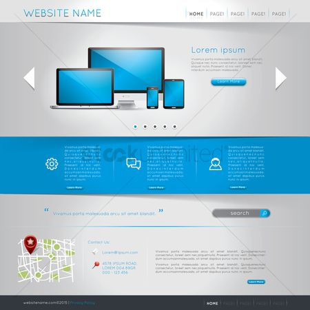 Location pointer : Website template