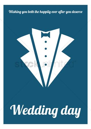 Tux : Wedding card design