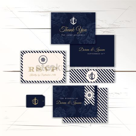Invitations : Wedding card template