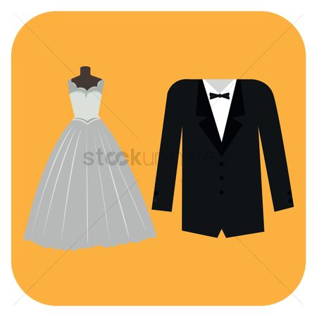 Tux : Wedding gown and suit