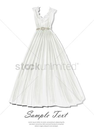 Dresses : Wedding gown with sample text