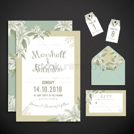 Weddings : Wedding invitation icons