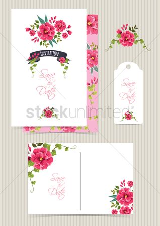 Weddings : Wedding invitation set design