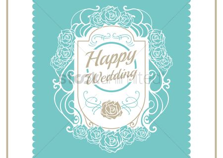 Borders : Wedding template design