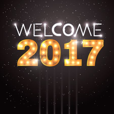 Shine : Welcome 2017 greeting