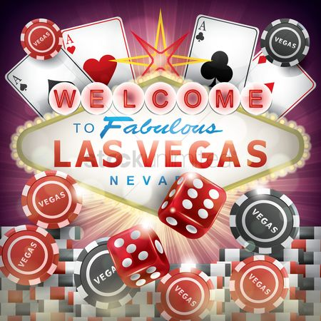 Poker chips : Welcome to fabulous las vegas poster