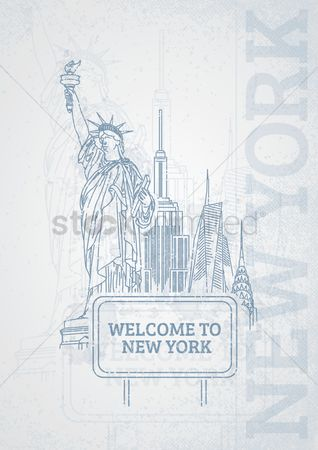 State : Welcome to new york poster