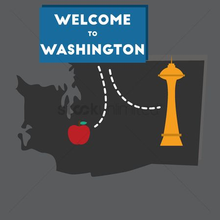 Space needle : Welcome to washington state