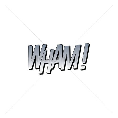 Wham : Wham text with comic effect