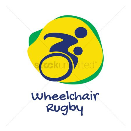 Wheelchair : Wheelchair rugby icon