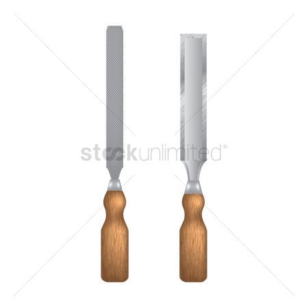 Handy : Wide and narrow chisel