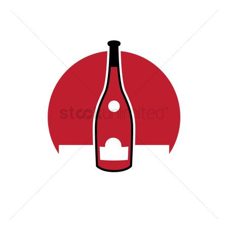 Red wines : Wine bottle
