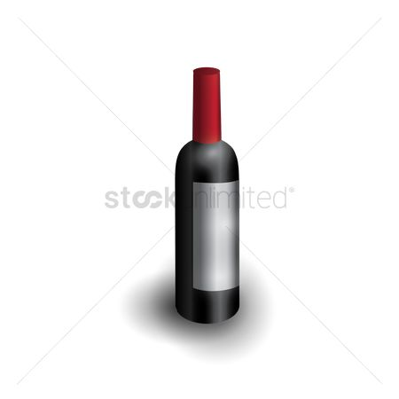 Liquor : Wine bottle