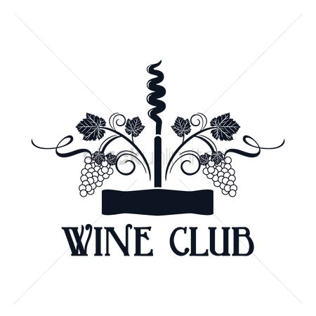 Grapes : Wine club label