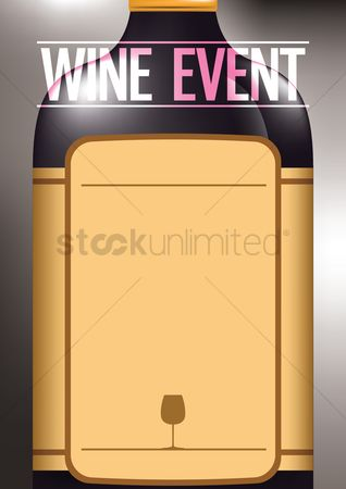 Liquor : Wine event poster