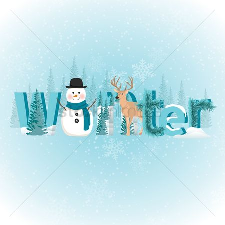 Fonts : Winter background