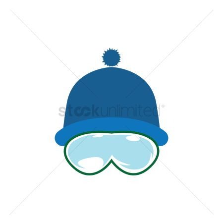 Skiing : Winter hat with ski mask