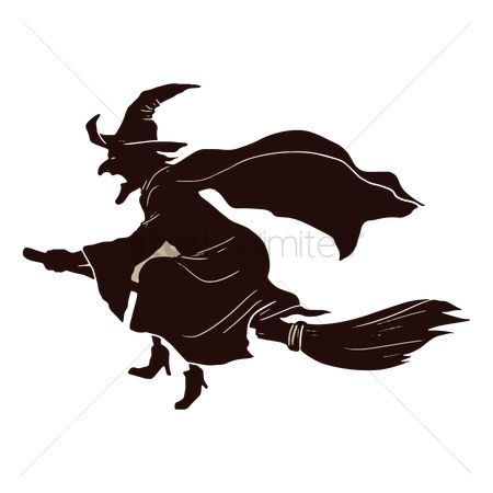 Accessories : Witch flying on broomstick