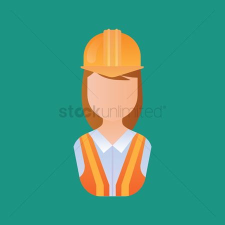 Businesspeople : Woman construction worker