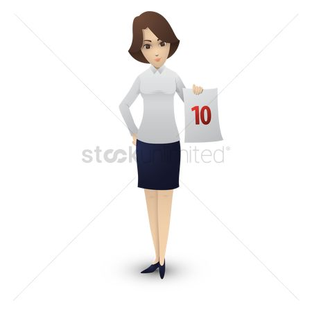 Skirt : Woman holding a piece of paper