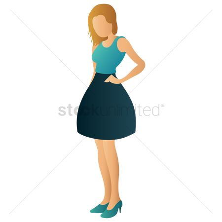 Skirt : Woman in casual wear