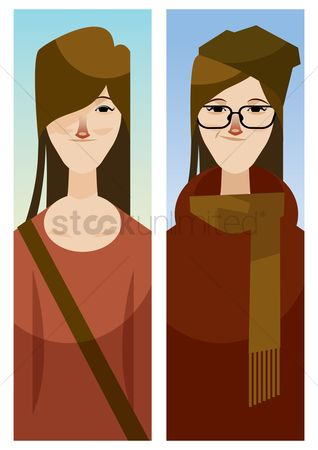 Pullover : Woman in different clothing