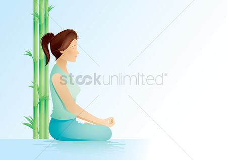 Relaxing : Woman in meditation
