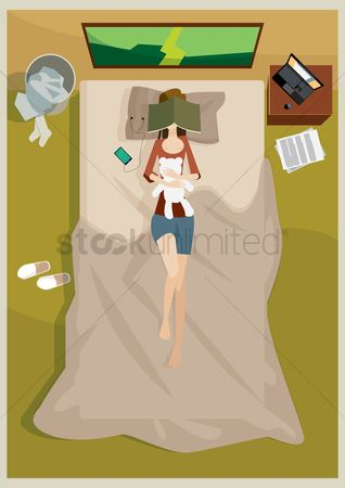 Lifestyle : Woman sleeping