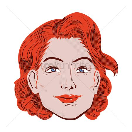 Free Smiling Women Face Stock Vectors Stockunlimited