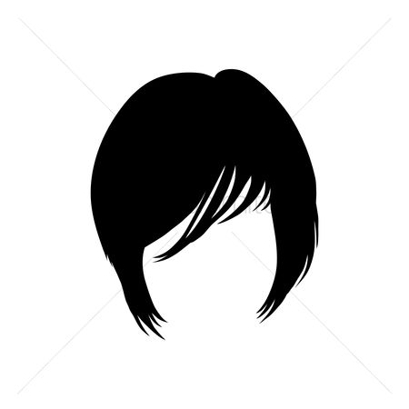 Hairstyle : Woman with short fringed hairstyle