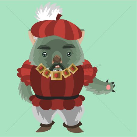 Beret : Wombat in renaissance clothing