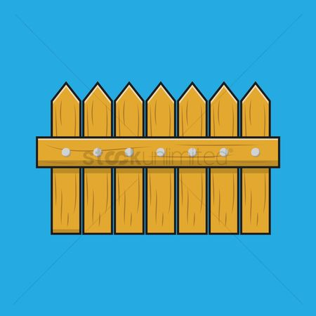 Barrier : Wooden fence
