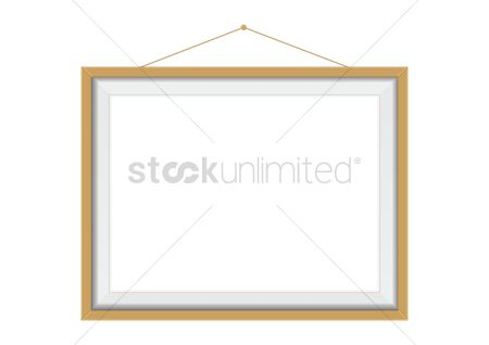 Interior : Wooden picture frame