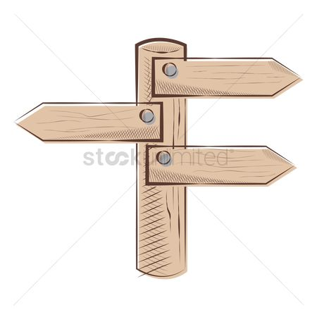 Wooden sign : Wooden signboard