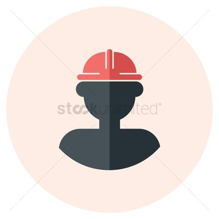 Builder : Worker with hard hat