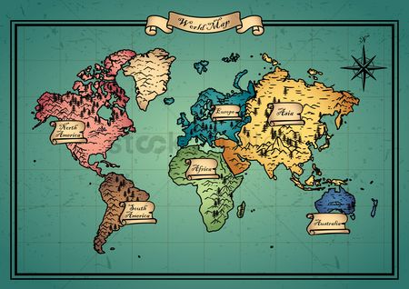 Free old world map stock vectors stockunlimited 1986080 old world map world map design gumiabroncs Images
