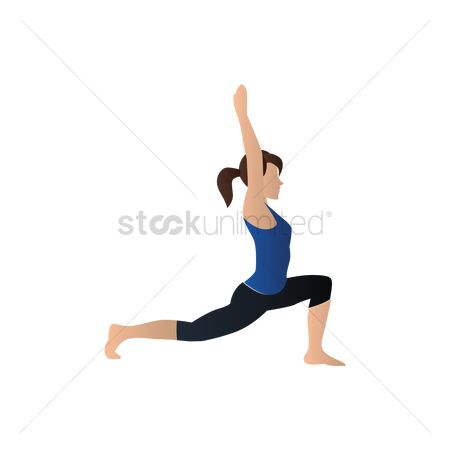 Health cares : Yoga pose warrior