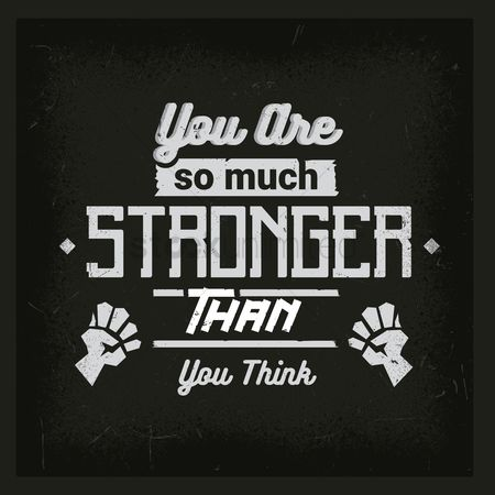 Mindset : You are so much stronger than you think typography design